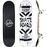 BELEEV Skateboard 31x8 inch Completo Cruiser Skateboard per Bambini, Giovani e Adulti, 7 Strati di Acero Canadese Double Kick