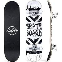 BELEEV Skateboard 31x8 inch Completo Cruiser Skateboard per Bambini, Giovani e Adulti, 7 Strati di Acero Canadese Double…