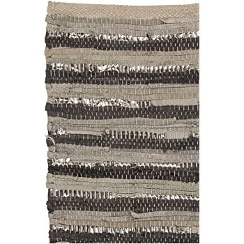 Amazon De Glitzer Leder Teppich Huge 60x90cm Baumwolle In Grau