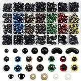 TOAOB 780pcs 6 à 12mm Coloré Yeux de Poupée de Sécurité en Plastique Nez Triangulaire Courbé et Rondelles pour Artisanat DIY