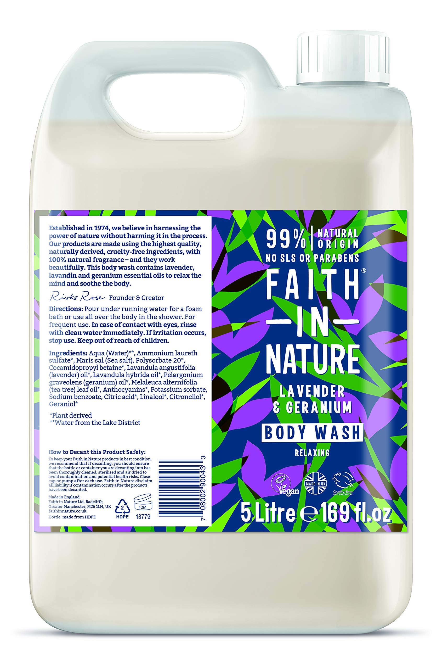 Faith in Nature Natural Lavender & Geranium Body Wash, Nourishing, Vegan and Cruelty Free, Parabens and SLS Free, 5…