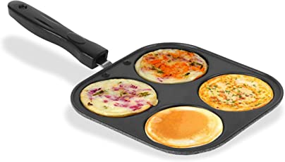 Sumeet Nonstick Multi Snack Maker Plate/Pan (Small) 4 in 1 (19.5 X 19.5 X1.3 cms)