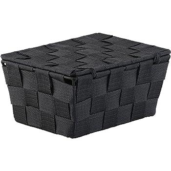 PP 7.5 x 7.5 x 9 cm Wenko Storage Basket Adria Cubo in Taupe