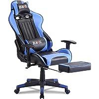 Remaxe Gaming Stuhl Bürostuhl Schreibtischstuhl Computer Spielstuhl, Verstellbares Massage Lendenkissen Einziehbare…
