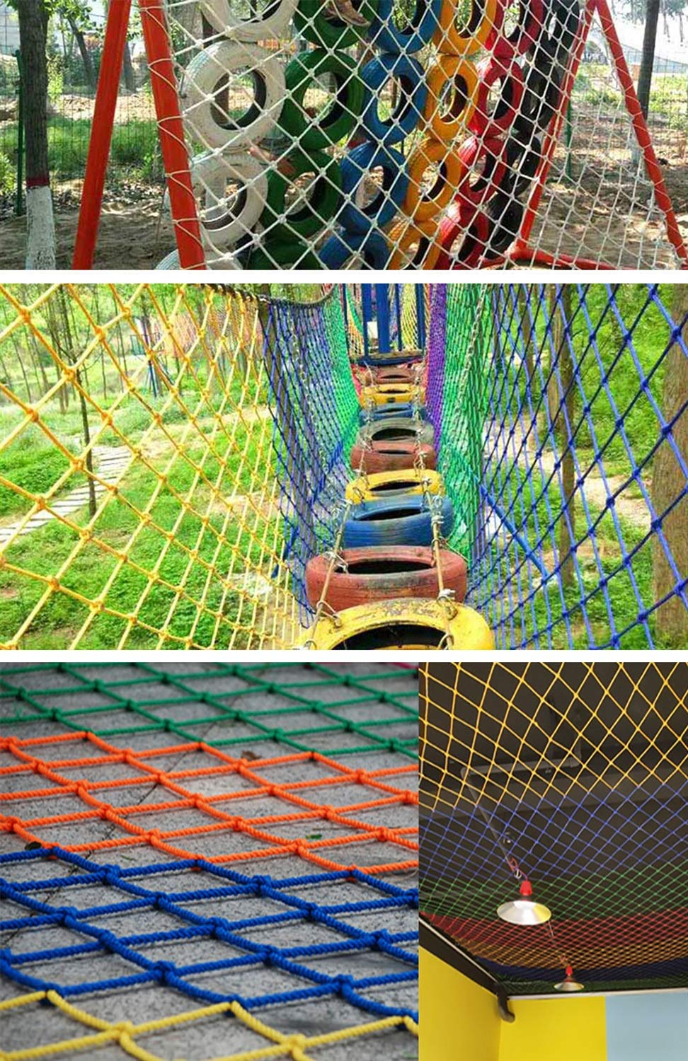 Blue Outdoor Child safety net protective net balcony stairs anti-fall net kindergarten color decorative net fence network Width 1/4M Length 1M /9M Hand braided traditional structure (Size : 4m*5m)  [Protect children's safety]: Many children fall from the building, let us understand that the safety of children can not be ignored. [Polyester knotless woven mesh]: The mesh surface has large pulling force, and the double needle has no knot woven mesh hole, so that the mesh has stronger impact resistance. [wire diameter 10MM, mesh spacing 10CM]: Escort for baby safety.(Others available in our shop) 12