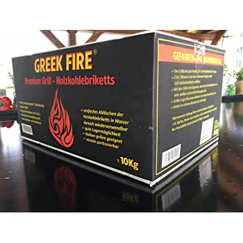 10 kg Greek Fire Profi-Holzkohlebriketts
