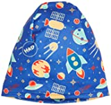 HAD Kinder Printed Fleece Beanie Rocket Mütze, Blau/Türkis/Rot/Gelb, One Size