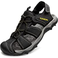 LARGERED Mens Women Wide Fit Sandals Sports Outdoor Hiking Sandals Walking Sandal for Trekking Trail Beach Summer Closed…
