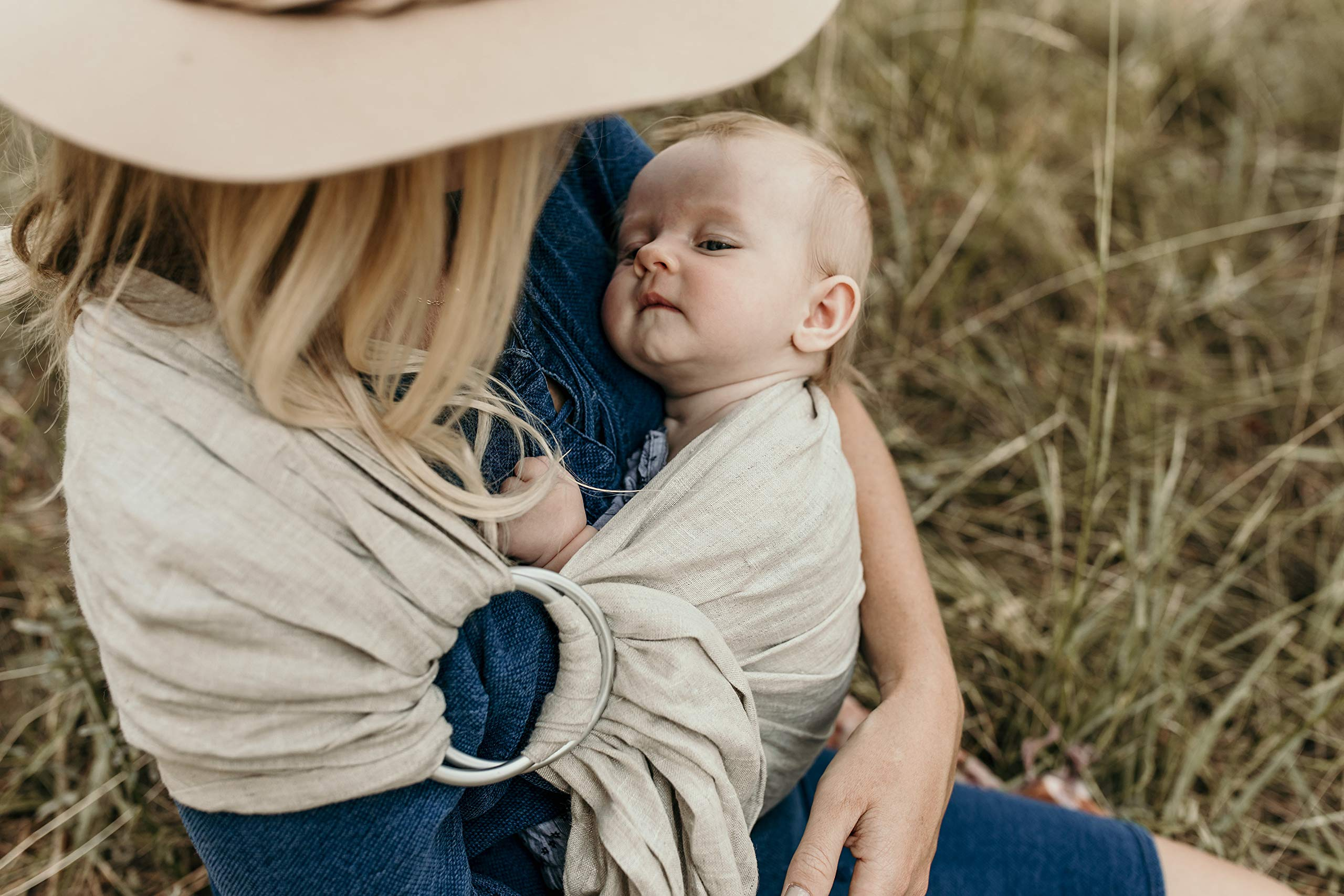Hip Baby Wrap Linen Ring Sling Baby Carrier for Infants and Toddlers (Oat) Hip Baby Wrap Our slings are all fair trade and eco-friendly. Made with beautiful 100% linen, breathable fabric and with top quality solid aluminum sling rings. For babies 8 - 35 lbs. 6