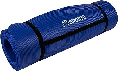 ScSPORTS Gymnastik-/ Yoga-Matte, mit Schultergurt, 190 cm x 80 cm x 1,5 cm, verschiedene Farben