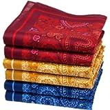 Merrysquare - Fine Handkerchiefs Heart Pattern - Agape Model - Average Size 14 Inches - 6 Pieces - 100% Cotton