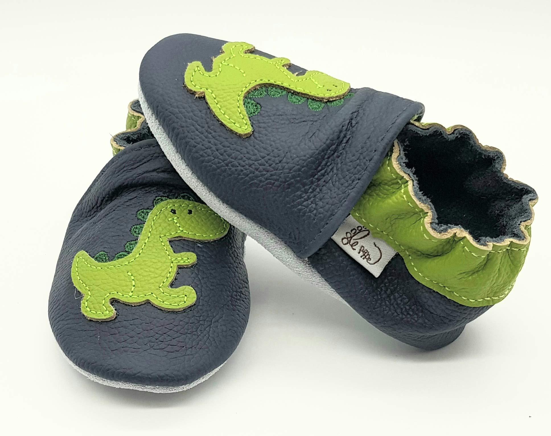 Nido Primi Passi Fino al 32//33!! Pantofole Babucce Scarpine in Pelle Prima Infanzia LEPEPPE Draghetto Dinosauro Materne Danza Neonato