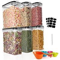 GoMaihe 6 × 2.5L Boite de Rangement Cuisine Lot de, Bocaux Hermetiques Alimentaires en Plastique Scellée avec Couvercle…