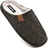 COFACE Heren Memory Foam Slippers Slip Op Warm Pluizig Huis Binnen/Outdoor Schoenen Met Anti-slip Zool