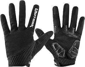 Kutook Fahrradhandschuhe Herren Rutschfeste und Stoßdämpfende Gepolsterte Mountainbike Handschuhe mit Touchscreen Finger für Radsport MTB Road Race Downhill Wandern