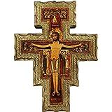 Ferrari & Arrighetti Crocifisso di San Damiano su Legno da Parete - 27 x 21 cm