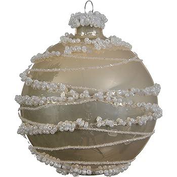 Glaskugeln Weihnachtskugeln Perlen Pastell 3er Set 8cm Elegant