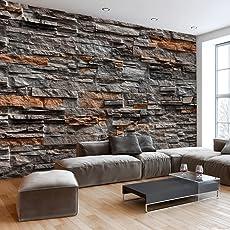 murando - Fototapete Steinoptik 400x280 cm - Vlies Tapete - Moderne Wanddeko - Design Tapete - Wandtapete - Wand Dekoration - Steintapete Steine Stein Mauer Steinoptik 3D f-B-0086-a-b