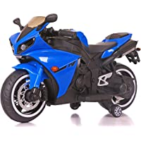 Toy House Yamaha R1 Bike with Rechargeable Battery Operated Ride-on for Kids (2 to 6yrs, Blue)