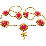 BLENT#63 Pink Gota Patti Flower Jewellery Kamarband/Waistband/Belly Chain for Women/Kids/Girls/Bride/Bridal Haldi/Mehandi (Ha