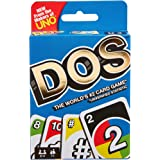 UNO DOS, Family Card Game, From the Makers of UNO, with 108 Cards, Makes a Great Gift for 7 Year Olds and Up FRM36