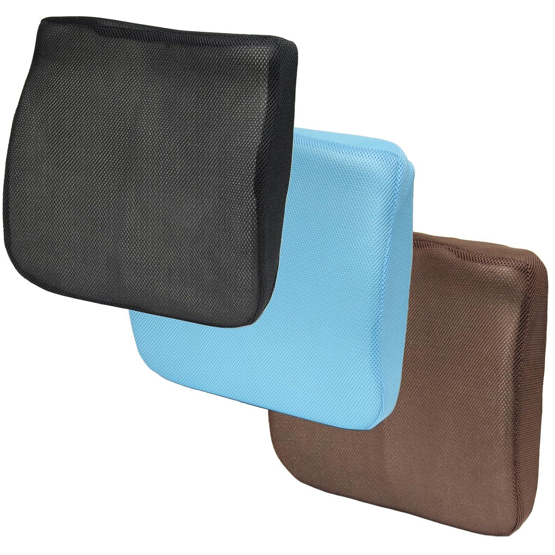 Hartleys 2 in 1 Memory Foam Seat Cushion & Lumbar Support Black