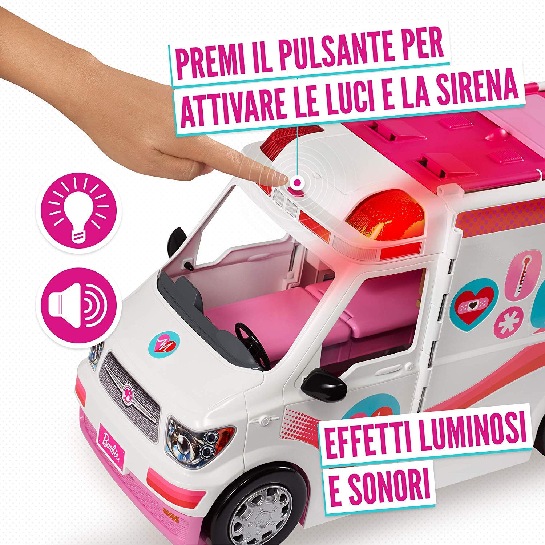 Barbie Ambulanza, Trasformabile in Clinica Mobile con 3 Stanze e