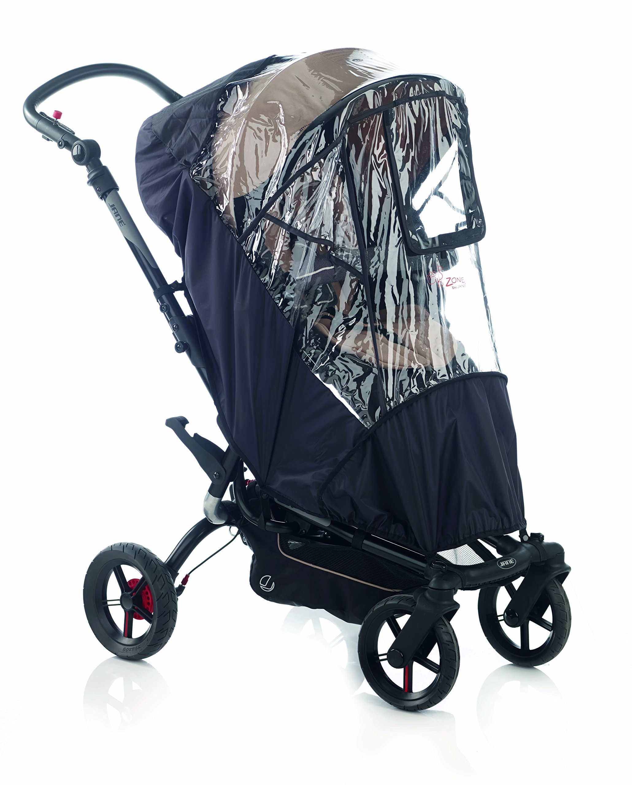 Jane Raincover for Pushchair (Unv/Nylon) Jane, Inc. Universal fitting - should fit most Pushchairs with a hood on the market Jane models we have confirmed it fits on are: Muum, Epic, Twone Single, Rider, Trider and Trider Extreme This raincover is a quality accessory that is reinforced to prolong its life 1
