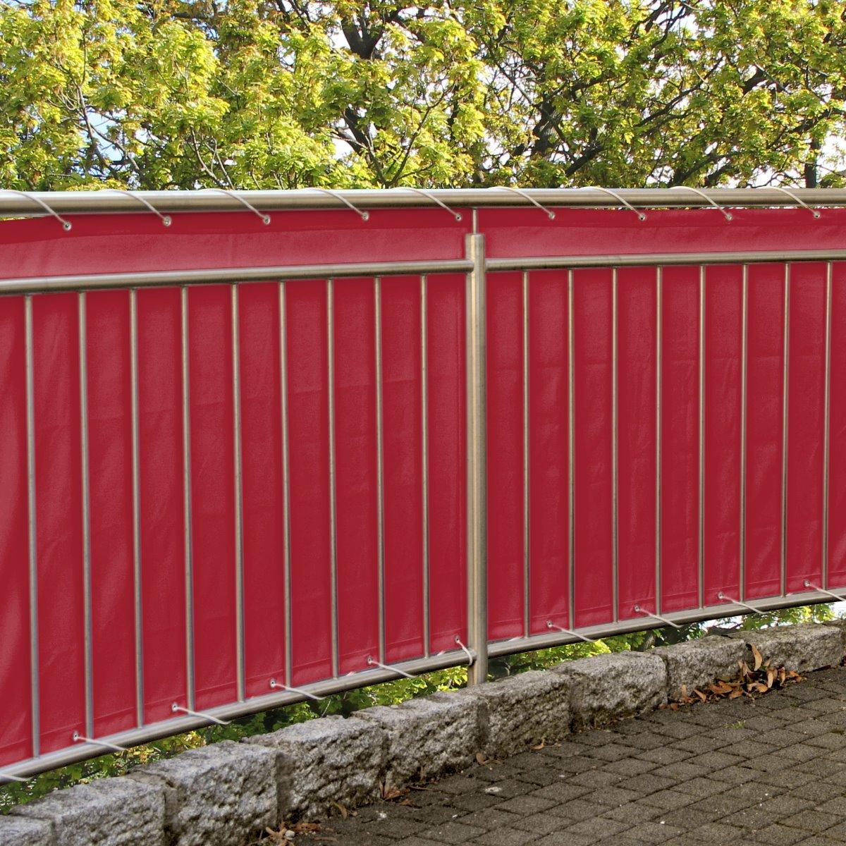 Amazon Balkonsichtschutz Rot Windschutz Sichtschutz 600 x 90