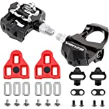 """Venzo Sealed Fitness Exercise Spin Bike CNC Pedals compatible with LOOK ARC DELTA & Shimano SPD 9/16"""" Compatible with Peloton"""