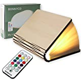 Lampada Libro Led Pieghevole in Legno con Telecomando 12 Colori e Timer – BONNYCO | Lampada Libro Decorazioni Casa, Camera e