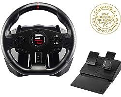SuperDrive - Volant SV 700 Drive Pro Sport avec pédalier, palettes de vitesses et vibrations pour Nintendo Switch/PS4/Xbox On