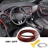 Car Trim Strip linea,fai da te Car Styling interni modanature Decorazione (10M Rosso)