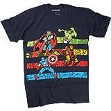 Marvel Avengers Classic Marvel StripesCamiseta Azul Marino Para Hombre