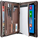 Vintage Crazy-Horse Portfolio Organizer Padfolio Compact Case for Surface Pro 7 / Surface Pro 6 / Pro 5 / Pro 4, Padfolio Cas