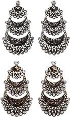 Crunchy Fashion Jewellery Stylish Gold Plated Earrings for Girls Fancy Party Wear Earrings for Women