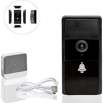 Safe2Home Türklingel Funk mit Kamera und Gegensprechanlage/WLAN/Nachtsicht Modus/Zugriff der Video Klingel per Smartphone App