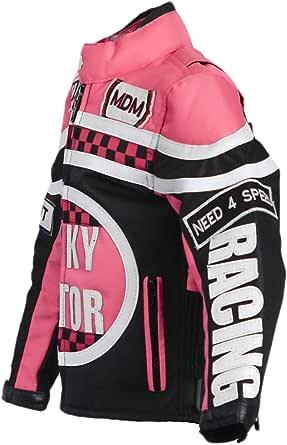 Mdm Mädchen Motorradjacke In Rosa Für Kinder Bikerjacke Racing Jacke Bekleidung