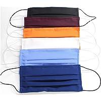 5 Mascherine colorate artigianali in doppio strato di puro cotone colori assortiti con tasca per inserimento ulteriore…