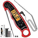 Thermomètre Cuisine,TM27 Thermometre de Cuisine,TEMOLA 2 en 1 Thermomètre Alimentaire Instantanée avec four Supplémentaire et