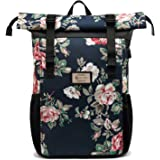Laptop Rucksack Damen, Schule Rolltop Rucksack für 17 Zoll Laptop, Schulrucksack für Mädchen und Jungen Teenager, Stylische T
