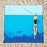 OCOOPA Stranddecke sandfrei XXL, 210x200cm Extra groß, Picknickdeck wasserdicht weiches und strapazierfähiges Meterial, leich