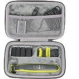 co2CREA Hårt reseskydd fodral fodral för Philips OneBlade rakapparat QP2520 QP2530 QP2620 QP2630 skäggskärare (svart)