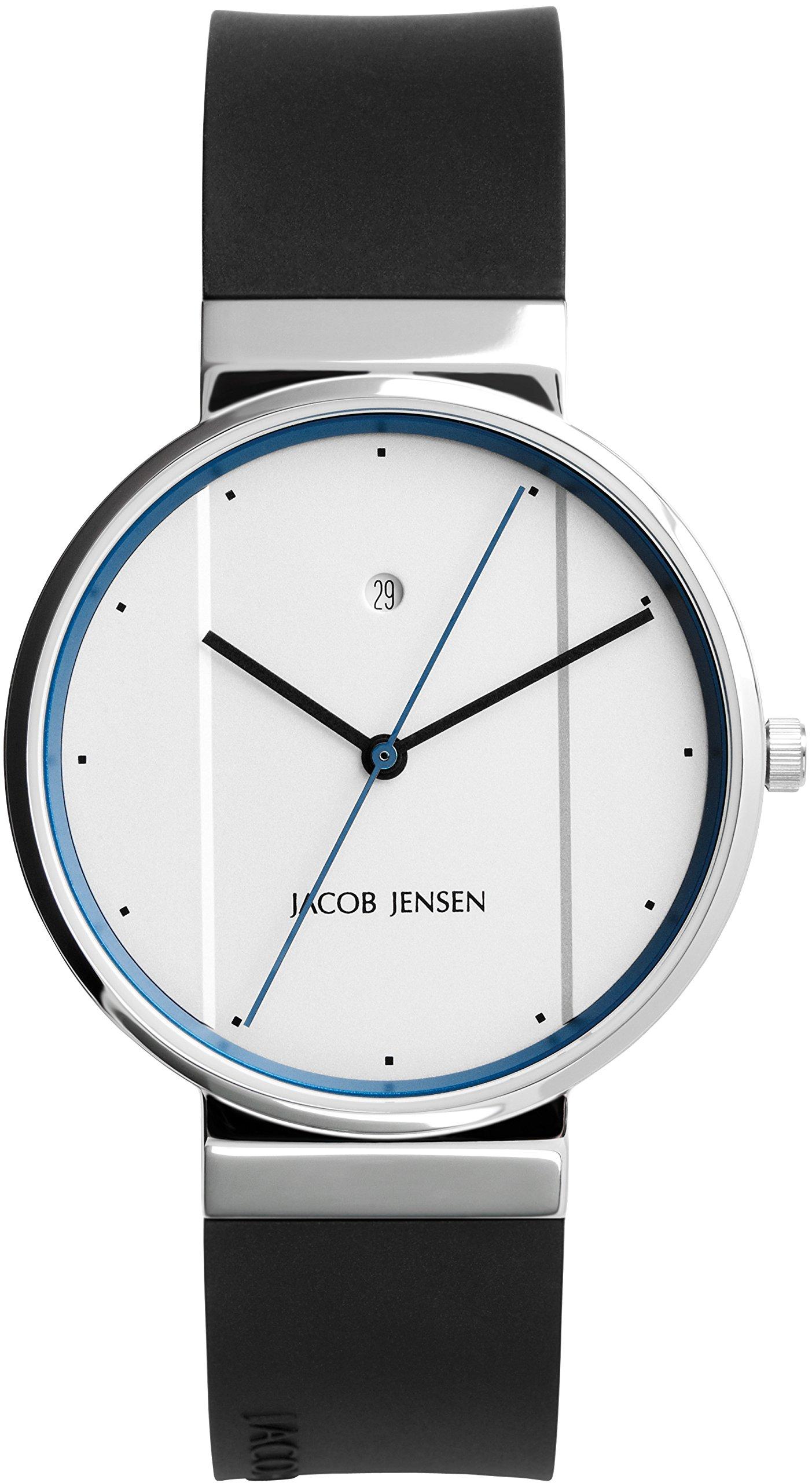 Jacob Jensen Reloj analógico para Unisex de Cuarzo con Correa en Caucho
