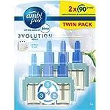 Febreze Ambi Pur 3Volution Air Freshener Plug-In Diffuser Refill, Odour Eliminator, Cotton Fresh, 40 ml, (20 ml x 2)