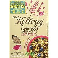 Kellogg's WKK Super Foods Granola Farro e Mirtilli Rossi - Pacco da 5 x 300 g