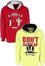 Maniac Kids Fullsleeve Printed Hood Sweatshirt Combo Pack of 2