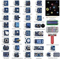 SunFounder 37 Modules Sensor Kit V2.0 for Raspberry Pi 3, 2 and RPi Model B+, 40-Pin GPIO Extension Board Jump wires