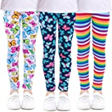 Girls Leggings, Kereda Kids Floral Stretch Leggings Full Length Children Tight Pants Colorful Printing Leggings for Age 4-13