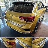tuning-art L343 Roestvrijstalen Achterbumperprotector voor VW T-Roc Typ A1, Kleur:Zilver